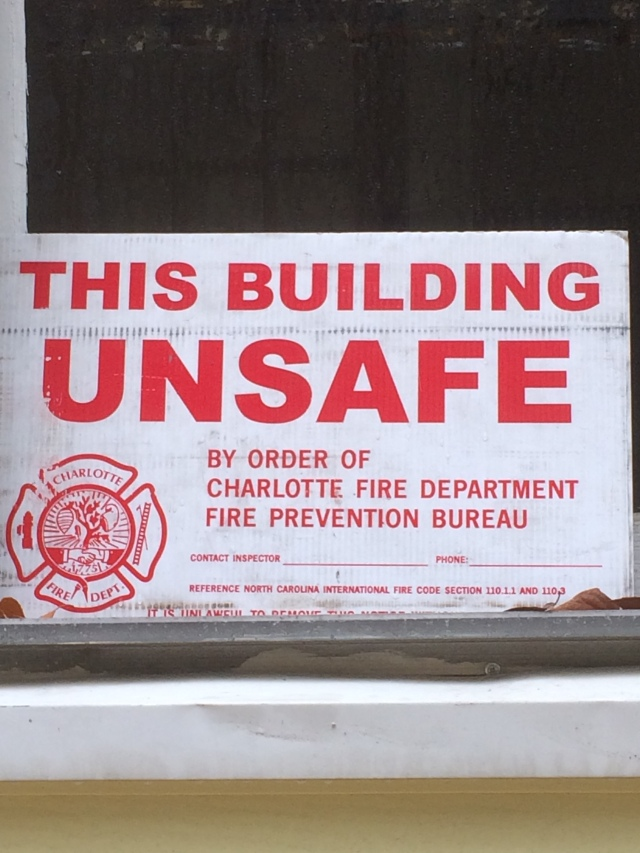 unsafe sign