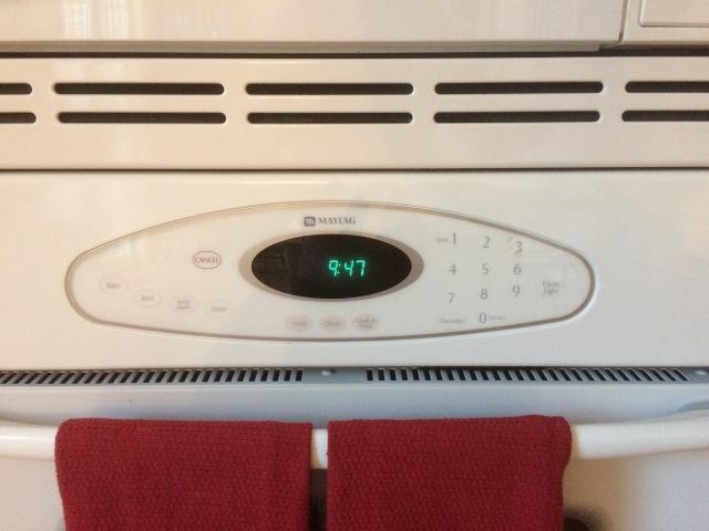 microwave clock
