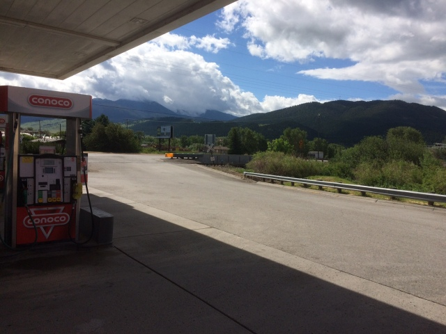 Gas station view