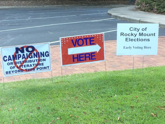 City of Rocky Mount Election sign