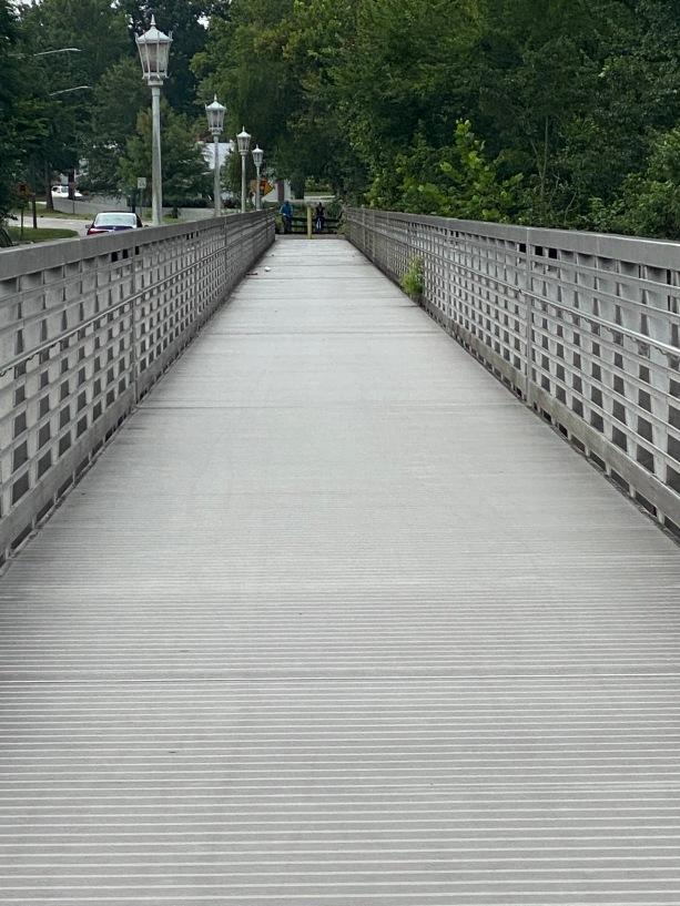 walkway beside bridge